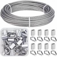 Buy cheap Cable Railing Kits 316 Stainless Steel Wire Rope & Fittings Includes 1/8 Inch X 33 Feet from wholesalers