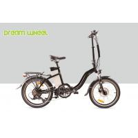 Buy cheap Black 10.4Ah Electric Folding Cruiser Bicycle 36V 20 Inch With Disc Brake from wholesalers