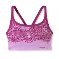 Buy cheap Purple Printed Shock Absorber Elastic Nylon / Cotton Front Closure Sports Bra For Summer from wholesalers