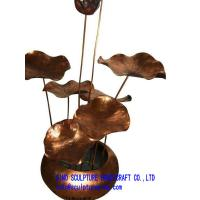 Wholesale lotus sculptures home garden decor brass flowers from china suppliers