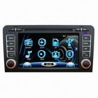 Buy cheap Car DVD Player for Audi A3, Plays DVD/Dnicx/MP4/MP5/VCD/SVCD/SD/USB/iPod/3D from wholesalers