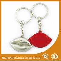 Wholesale Silver Plated Custom Shaped Keychain Personalised Lips Keychain from china suppliers