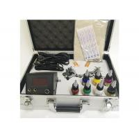 Buy cheap 7 Colors Ink 2 Machine Guns Permanent Makeup Tattoo Kit With Aluminum Box from wholesalers
