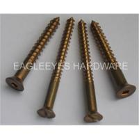 Buy cheap Silicon bronze wood screws fastener from wholesalers