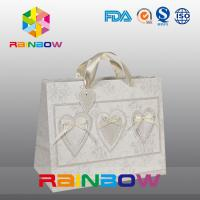 Wholesale Unique Design White / Red Custom Printed Paper Bags With Handle from china suppliers