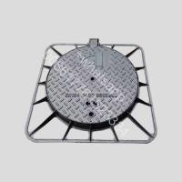 Buy cheap d400 load  double seal water tight and fire hydrant ductile iron manhole cover from wholesalers