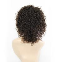 Buy cheap Human Real hair wigs European and American wigs Women Loose Wave 2# front lace wigs 10inch from wholesalers