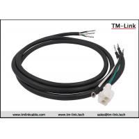 Buy cheap HXT63080 2P 16AWG male to terminals Black PVC Jacket power cable assemblies from wholesalers