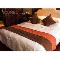 Buy cheap 4 5 Star Hotel Bed Runners Decorative For King Or Queen Size from wholesalers