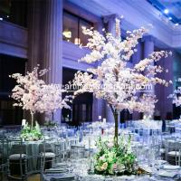 Wholesale 1.5m Height Artificial Pink Blossom Tree / Fake Cherry Flower Wedding Table Tree from china suppliers