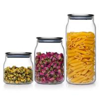 Buy cheap Heat resistant Glass Jars For Storage Container Tea Coffee Sugar Storage Jars with stainle from wholesalers