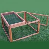 Buy cheap Rabbit Hutch, Made of Chinese Fir/Wood, with Fox-proof Wire, Measures 90 x 90 x 48cm from wholesalers