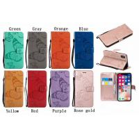 Buy cheap Embossing 3D Butterfly Leather Bracket Stand Wallet Case with slots for iPhone from wholesalers