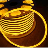 Wholesale 50m spool anti-UV full waterproof IP68 led flex neon strip 24vsmd flexible soft tube yellow emitting mini 7*15mm from china suppliers