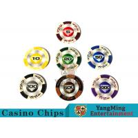 Wholesale 14 Gram Matte Sticker Custom Clay Poker Chips With 25pcs In A Shrink Roll from china suppliers
