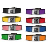 Buy cheap Personalized Silicone ID Bracelet QR code metal bracelet with various color from wholesalers