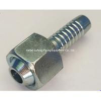 Buy cheap Customized forged metric female thread hose fitting double connector hydraulic fitting metric barbed hose fittings from wholesalers