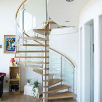 Wholesale Custom Arc Stair Curved Stainless Steel Spiral Staircase with Iron Railing Designs from china suppliers