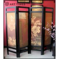 Buy cheap Fold screen w/camellia from wholesalers