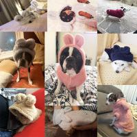 China Winter Custom Dog Hoodies , Cold Proof Small Dog And Cat Clothes on sale