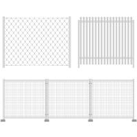Buy cheap Galvanized, PVC Coated Mobile Mesh Steel Fence Systems For Swimming Pools, Residential from wholesalers