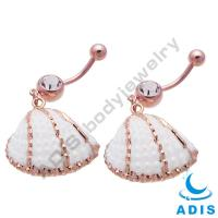 Buy cheap Sea Shell Dangle Belly Button Rings  , Cute Belly Rings For Women from wholesalers