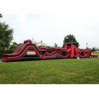 Wholesale Super Explorer Inflatable Obstacle Course Red Color Double Stitching from china suppliers