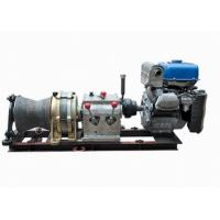 Buy cheap Cable Pulling Engine Powered Winch / 5 Ton Gasoline Planetary Gearbox Winch from wholesalers