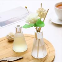 Buy cheap Customized Luxury Box Home Reed Diffuser Glass Bottle Dried Flower Design from wholesalers