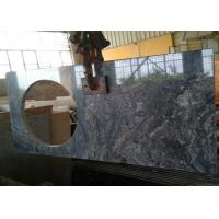 Wholesale 22 x 60 inches Ganges Black Prefab Granite Vanity Tops with left sink hole from china suppliers