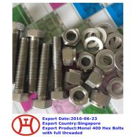 Buy cheap Monel 400 Hex Bolts with full threaded from wholesalers