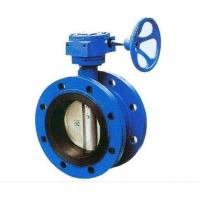 Buy cheap Double Flanged Cast Steel Butterfly Valve Adjust Tightness With Hand Wheel Dn50 - Dn400 from wholesalers