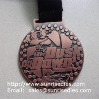 Buy cheap Antique copper plated alloy sport medal and medallion, custom metal sports medals from wholesalers