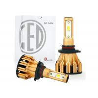 Buy cheap All In One Aluminum Car LED Headlight Bulbs Tri Color H4 H7 9005 9006 DRL 25W 2500LM from wholesalers