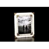 """Buy cheap 8""""X10"""" One Opening Wooden Photo Frame In Antique White With Metal Decorative Corners from wholesalers"""