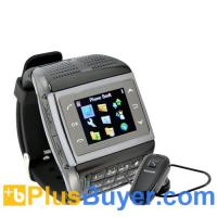 China Panther - 1.3 inch Touchscreen Mobile Phone Watch with Keypad (Bluetooth, Quadband) on sale