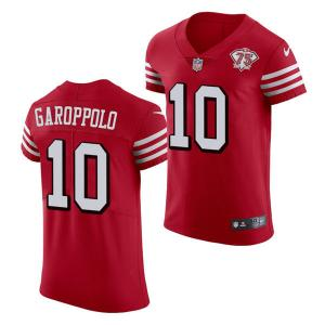 Wholesale Mens San Francisco 49ers #10 Jimmy Garoppolo Scarlet Retro 1994 75th Anniversary Throwback Classic Limited Jersey from china suppliers