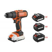 China Rechargeable Power Tools Cordless Drill 21V Voltage With Electric Brake on sale