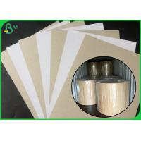 Buy cheap FSC Certified Coated Duplex Board White Side With Grey Back In Large Roll Packing from wholesalers