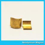 Buy cheap Arc Shaped Neodymium Motor Magnets N38H Grade Wind Generator NdFeb Magnet from wholesalers