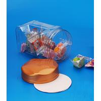 Buy cheap Easy Open End Transparent Plastic Jar For Food Storage Customized Lid Color from wholesalers