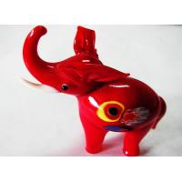 Buy cheap Red Elephant Ornament , Handmade Glass Animals For Wedding Decoration from wholesalers