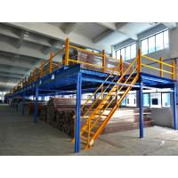 China Cold Rolling Steel Industrial Mezzanine Floors For Warehouse , Blue / Orange on sale