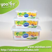 Buy cheap 3 pcs Set Microwavable Plastic Food Storage Container Set with Lids from wholesalers