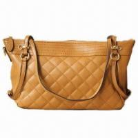Buy cheap Tan quilted leather handbags, wholesale, small, for ladies, comes in various colors from wholesalers