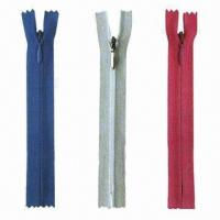 Buy cheap 2013 Newest Style 100% Nylon Invisible Zipper, OEM and ODM Orders are Accepted from wholesalers