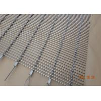 Buy cheap Building Decorative Wire Mesh Cladding , Rod Woven Decorative Metal Mesh from wholesalers