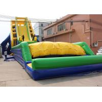 Buy cheap Yellow / Blue and Green Dry and Wet Slides , Inflatable Crazy Drop Kick Slide For Amusement Park from wholesalers