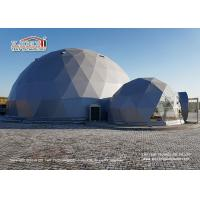 Buy cheap Flame Retardant 20m Geodesic Dome Tent  for 500 People Event Center and Wedding Center from wholesalers