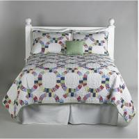Buy cheap Polyester Patchwork Quilt Bedding Set With Colorful Stripe For Hotel from wholesalers
